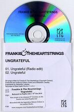 FRANKIE & THE HEARTSTRINGS Ungrateful UK 2-trk promo test CD Edwyn Collins