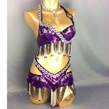 2piece handmade beaded belly dance costume Hollywood Carnival dancing wear Dress