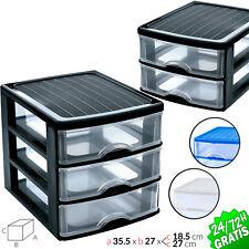Drawer Plastic 2 3 Organiser Storage Bedroom Office Cabinets