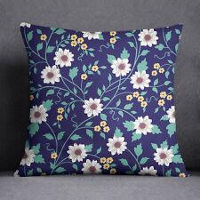 Housse de coussin de S4Sassy Floral imprimé bleu oreiller couverture Throw