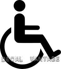 Handicap Symbol Vinyl Sticker Decal Wheelchair Access  - Choose Size & Color