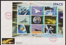5326+ CONCORDE   BLOC 1er JOUR NON  DENTELE  CONGO 2002