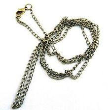 Collana 80 cm Metallo Catena 3 mm oro antico color NUOVO