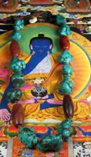 TIBETAN FINE QUALITY TURQUOISE CARNELIAN BEAD NECKLACE