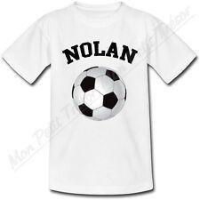 T-shirt Enfant Ballon de Foot avec Prénom Personnalisé