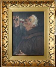 Georg Hoffmann-Salon,Öl auf Leinwand, ,Trinkender Mönch, 1908