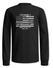 Jack Daniels Men's Stars & Stripes Flag T-Shirt Tee Long Sleeve 15261478JD-89