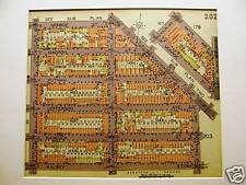Brooklyn Map 1929 BUSHWICK RALPH HALSEY BROADWAY Matted