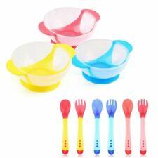 US Children Kids Suction Cup Bowl Baby Slip-resistant Sucker Bowl Spoon Fork Set