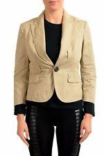 Dsquared2 Distressed Brown One Button Women's Blazer Sz XS S M L XL
