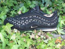 Nike Air Max Plata Zapatillas Cuero Negro Classic Premium Zapatos NUEVO