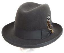 Men's Godfather Dress Hat GF-109 Charcoal Gray 100% Australian Wool S, M, L, XL