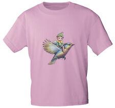 (12442 rosa) Kinder T-Shirt bunt bedruckt 104 116 128 140  ♥ Junge auf  Vogel ♥