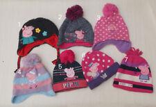 NEW Kids Girls Peppa Pig Winter Hat, Size 1.2.3.4.5.6