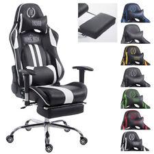 Chaise bureau racing LIMIT similicuir repose jambe accoudoir coussins jeux sport