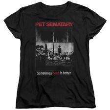 Pet Sematary 1989 Horror Movie Sometimes Dead Is Better Cat Women's T-Shirt