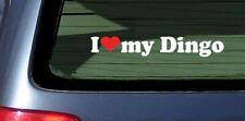 I Love My Dingo Sticker Vinyl Decal Car Window Fun Aussie Dog Puppy Wild Breed