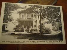 1925 High Class Rooms Alexandria Bay 1000 Islands NY PC