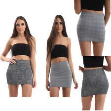 Neue Frauen Damen Body Con Mini Elastisch Rock-Sexy Look