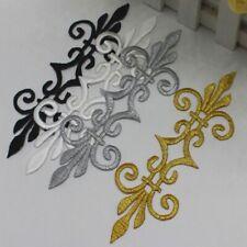 APPLIQUE PATCH ÉCUSSON thermocollant - Emblème fleur de lys ** 17 x 5,5 cm **