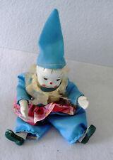 ceramic clown cloth rope legs & arms