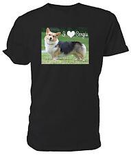 Welsh Corgi, I Love Corgis T shirt - Choice of size & colours!