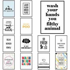 Funny Bathroom Prints Artwork for Toilet Washroom Décor Posters Frames