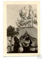 1915 Photo of Day Nursery Tent w/ Ladies & Children
