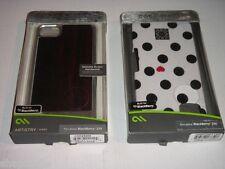 NEW - CASE-MATE for Blackberry Z10 Choose EXOTIC WOOD or ZEBRA SPOTS