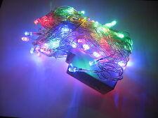 LUCI LUCE 100 LED NATALE LAMPA LAMPADINE NATALE ALBERO MULTICOLORE 7 REGOLAZIONI