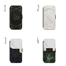 Personalizzato Monogramma Iniziali Nome Cover Custodia a Portafoglio Iphone &