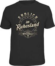 T-Shirt Endlich im Ruhestand Jetzt offiziell runder Geburtstag S M L XL XXL XXXL