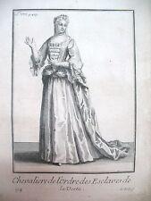 RELIGION CHEVALIERE DE L'ORDRE DES ESCLAVES DE LA VERTU GRAVURE 1838