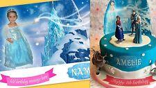 Disney Frozen Elsa Photo Cake Topper Personalizado, Ideal Para Pasteles Cumpleaños