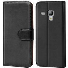 Book Case Samsung Galaxy S3 Mini Hülle Tasche Flip Cover Handy Schutz in Schwarz