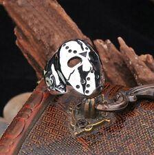 Men's Jason Voorhees Friday The 13th Hockey Mask Stainless Steel Biker Ring