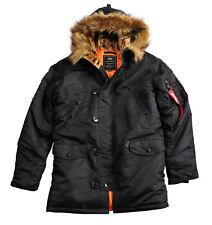 "Alpha Industries parka ""n3b vf 59"" | Black (103141) señores capucha chaqueta invierno"