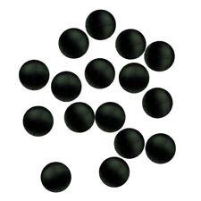 Paladin Gummiperlen schwarz in 3/4/6/8/10 mm Knotenschoner Perlen