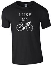 I LIKE MY BIKE Rennrad Fahrrad Biken Rad T-Shirt Radl Radfahrer Helm Pedal m174