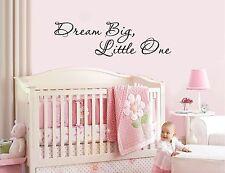 DREAM BIG, LITTLE ONE - vinyl wall sticker decal baby nursery children decor