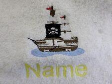 PIRATENSCHIFF design Bestickt auf Baumwolle Handtuch,Bademantel mit