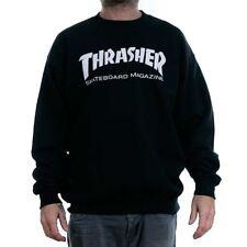 Thrasher Magazine Negro Skate Mag Logo Cuello Redondo Sudadera Distribuidor Oficial Nuevas