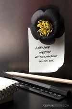 HOME/OFFICE QUALY DESIGN FLOWER FRIDGE MAGNET MESSAGE BOARD PAPER CLIP HOLDER