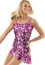 NEW Weissmans Pink Dance Costume Skate Dress Jazz Tap Twirl Ballet 4925 SA MA