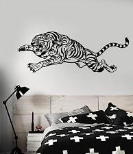 Vinyl Wall Decal Tiger Predator Animal Big Cat Fangs Claws Stickers (1891ig)