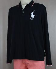 Polo Ralph Lauren Men's Black Cotton Large Pony Polo Shirt Ret $125 New