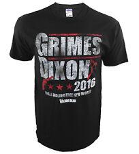 Authentic The Walking Dead Grimes Dixon for President 2016 T-Shirt Adult S-3XL