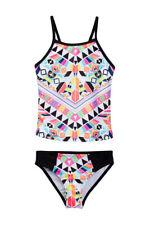 JANTZEN® Girls' 7, 8 Aztec Sun Lattice Back 2-Piece Tankini Swim Set NWT $50
