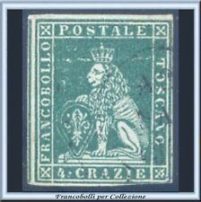 ASI 1851 Toscana 4 crazie verde su grigio n. 6 Usato