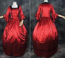 V-13 S/ M/L /XL/XXL rouge victorien gothique lolita ball-kostüm robe costume